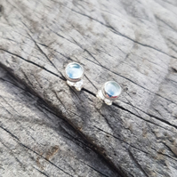 Aquamarine Stud Earrings 5mm