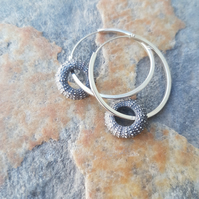 Sea Urchin Hoop Earrings