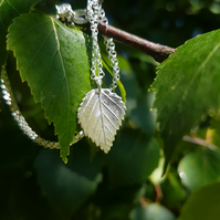 Birch Leaf Necklace small