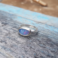 Opal Ring size P - Q.