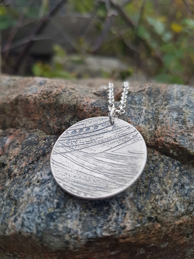 Etched Disk Necklace