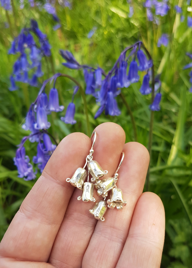 Bluebell Cluster Earrings Curly