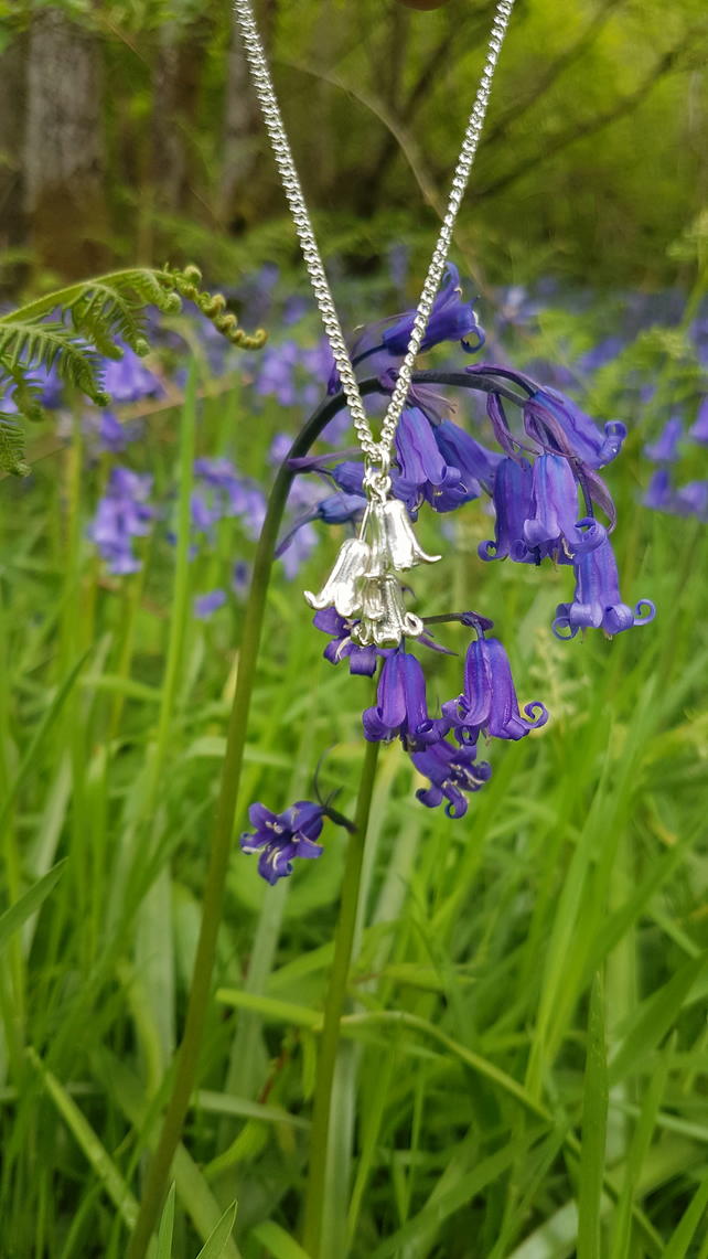 Bluebell Cluster Necklace