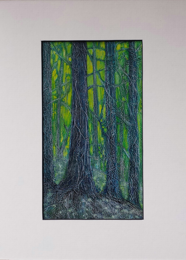 In the Forest, an original framed painting