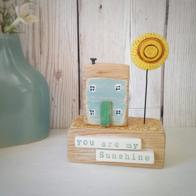 Little house with clay sun 'You are my Sunshine'