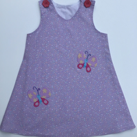 Beautiful A-line pinafore dress.