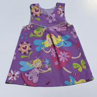 Reversible pinafore dress
