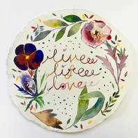 Watercolour painting illustration , round illustration  Live Life Love