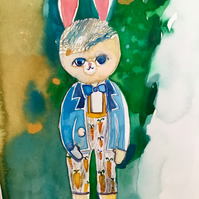 Drawing illustration Harry Bunny