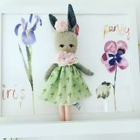 Beau Handmade fabric doll rabbit