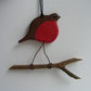 Robin on a twig hanger