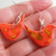Ceramic bird earrings