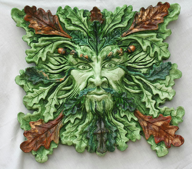 Green Man Duir Very Large Pagan Green Man Scu Folksy