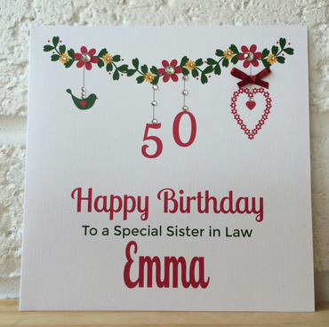 Personalised Age Birthday Card - 18th,21st.30th,40th,50th,60th,70th,80th (LB085)