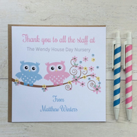 Personalised Nursery School Thank You Card (LB053)