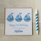 Personalised Boat Birthday Card (LB066)
