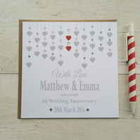 Personalised Wedding Anniversary Card (LB019)