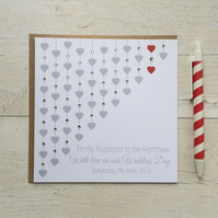 Personalised Wedding Day Card for Husband or Wife to be (LB026)