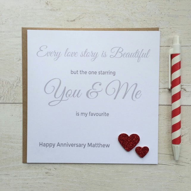 Personalised  Anniversary Card (LB002)