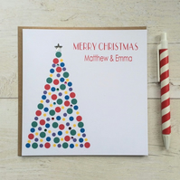 Personalised Christmas Card (LB017)