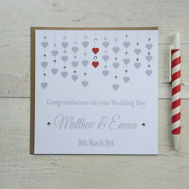 Personalised Wedding Day Congratulations Card (LB012)