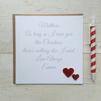 Personalised Christmas Card - As long as I have you ... (LB010)