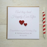 Personalised Wedding Congratulations Card (LB008)
