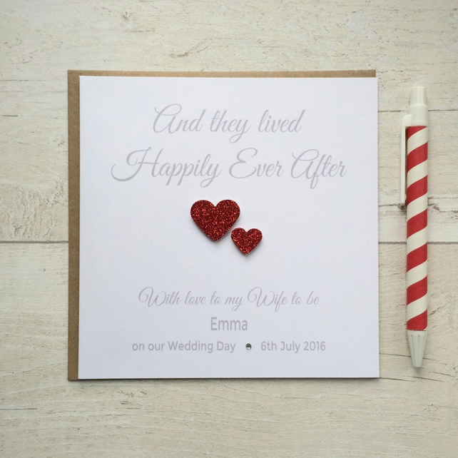 Personalised Husband or Wife to be Wedding Day Card (LB007)