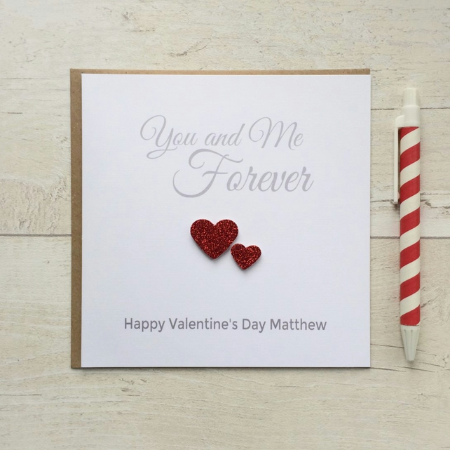 Personalised Valentines Day Card - You and Me Forever (LB006)