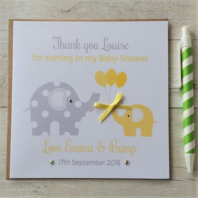 Personalised Baby Shower Thank you Card (LB073)