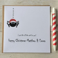 Personalised Spider Christmas Card (LB083)