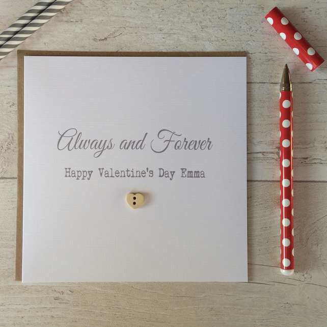 Personalised Valentine's Day Card - Always and Forever (LB118)