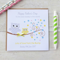 Handmade Owl Father's Fathers Day Card love from the Bump (LB147)
