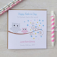 Personalised Owl Fathers Father's Day Card Pink or Blue (LB148)