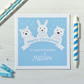 Personalised Christmas Card with Winter Animals (LB168)