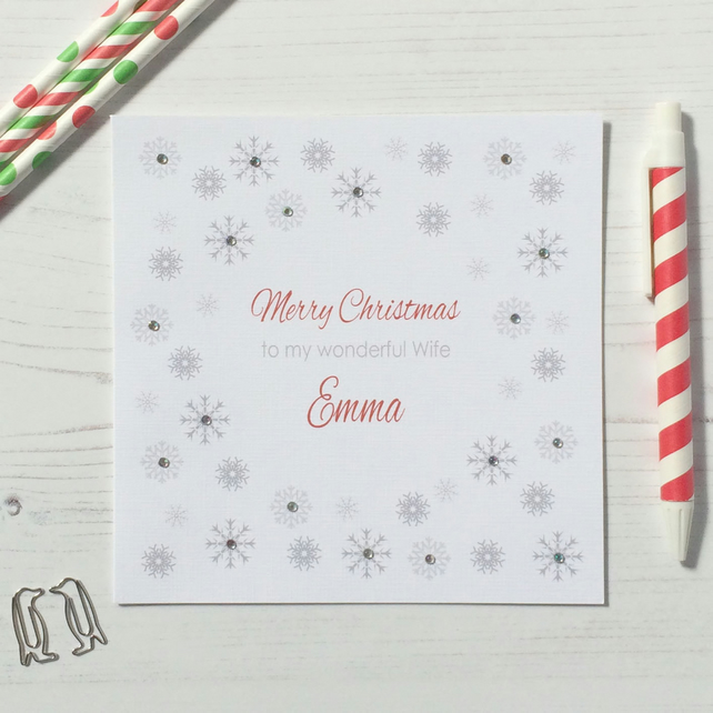 Personalised Christmas Card - Husband, Wife, Boyfriend, Girlfriend (LB178)