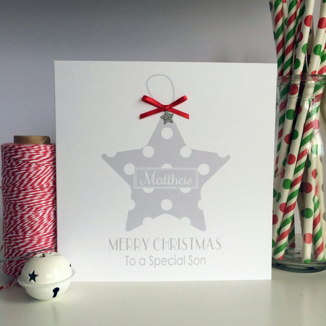Personalised Star Christmas Card (LB098)