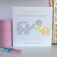 Love from the Bump Mother's day card with Elephants Mum to be Card (LB132)