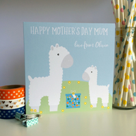 Personalised Llama Mother's Day Card (LB247)
