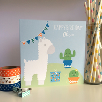 Personalised Llama Birthday Card (LB245 -46)