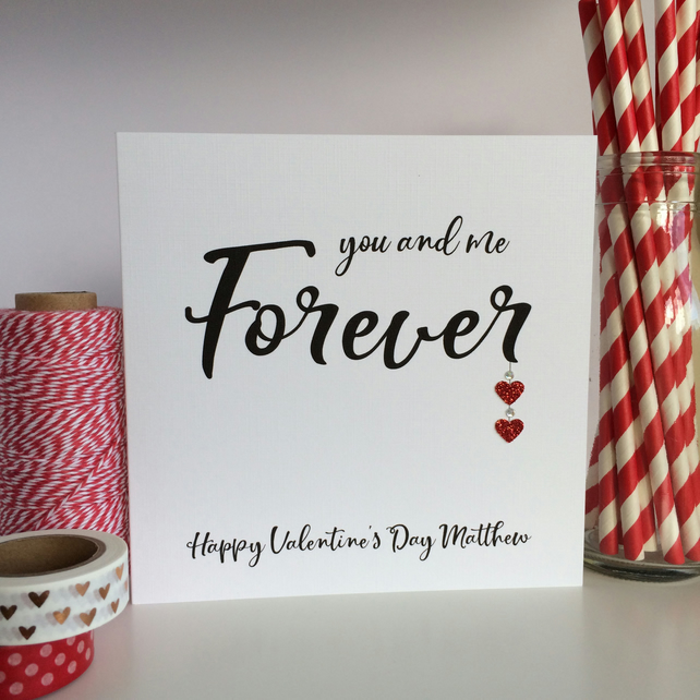 Personalised Valentine's Day Card - You and Me Forever (LB235)