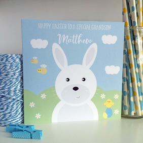 Personalised Easter Card with Easter Bunny (LB273)