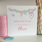 Personalised Floral Birthday Card, Wife Mum Daughter Granddaughter Niece LB265