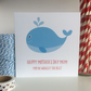 Handmade Mother's Day card You're whaley the best - LB267