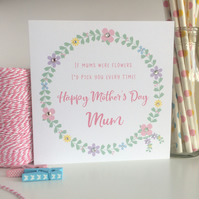 Handmade Floral Mother's Day Card LB269
