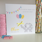 Personalised Elephant Baby Shower Card (LB282)