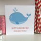 Handmade Whale Father's Day Card, Fathers Day Card - LB275