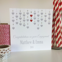Personalised Congratulations on your Engagement Card (LB290)