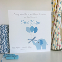 Personalised New Baby Boy Card (LB037B)