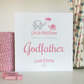 Personalised Thank you for being my Godparent, Godmother, Godfather Card -LB036
